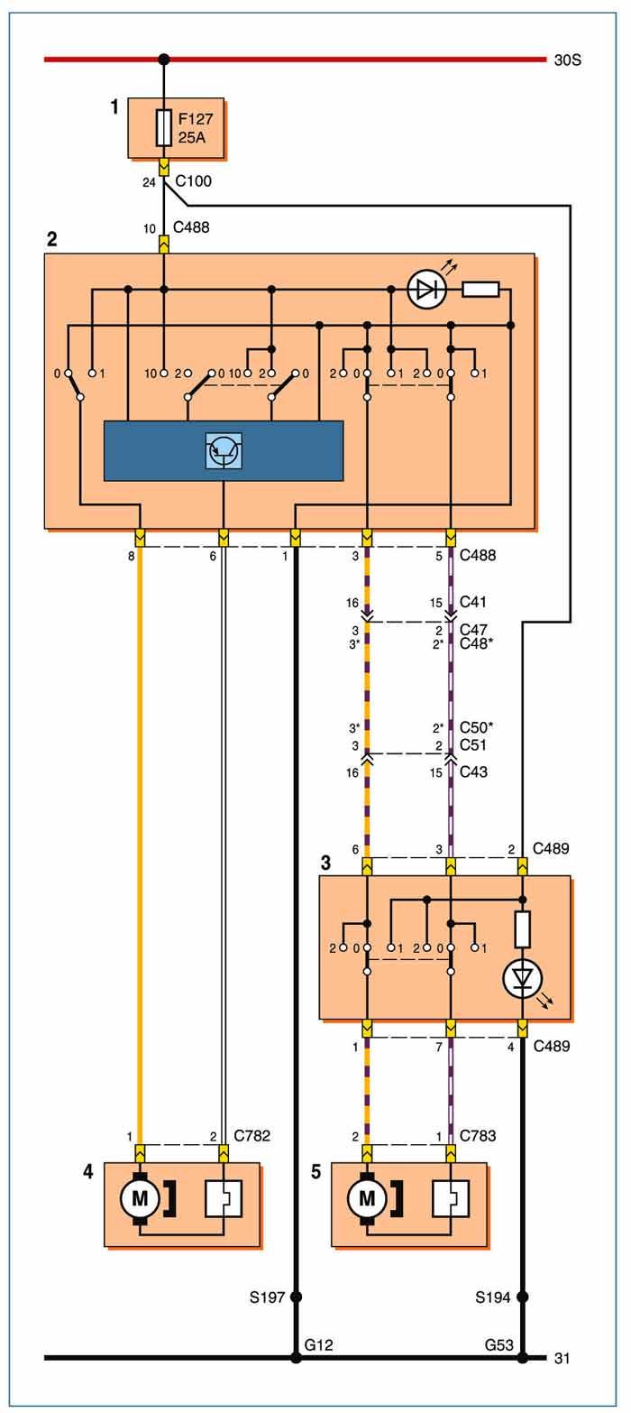Схема подключение привода стеклоподъемника