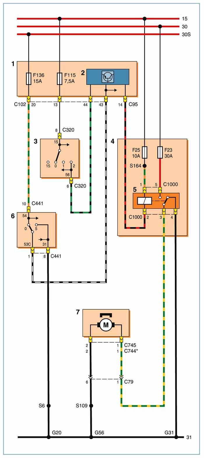 Схема замка зажигания ford