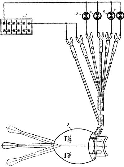 Схема переключателя указателей поворота