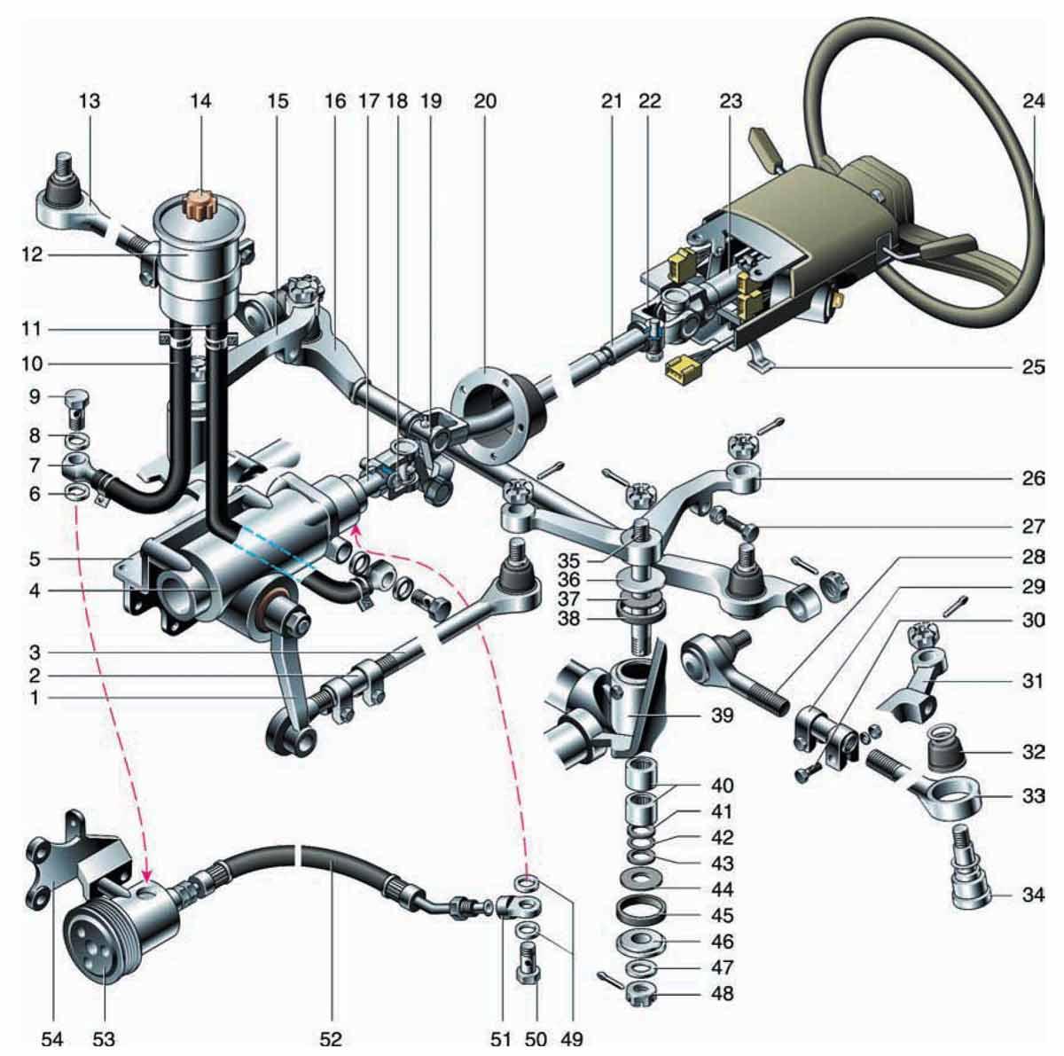 схема рулевой трапеции соболь