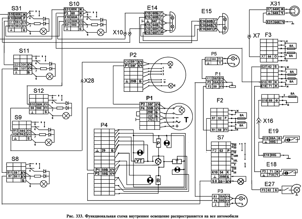 цветная схема электрооборудования камаз 5320